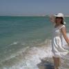 Fabiola at Dukhan beach